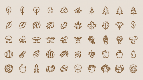 Free Vector File – 50 Autumn Inspired Icons
