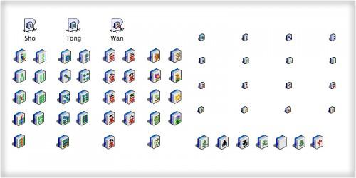 MahJong Icons 3D