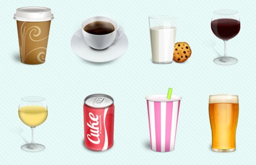 Drinks Detailed Icon Pack