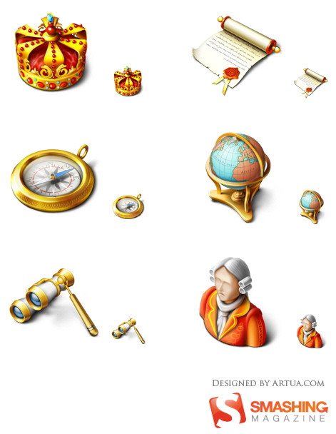 Smashing Royal Icon Set
